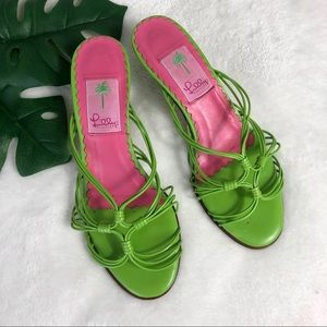 Lilly Pulitzer Lime Green Heels